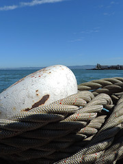 San Francisco - Roped (Drriss & Marrionn) Tags: sanfrancisco california travel blue sky usa dock ship waterfront outdoor ships bluesky rope fishermanswharf ropes