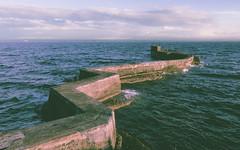 Dark water (r_macnamara) Tags: st evening scotland harbour breakwater monans