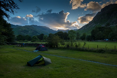 Great Langdale (David Biggins) Tags: lakedistrictgreatlangdale camping campsite cumbria sunset tent southlakelanddistrict england unitedkingdom gb