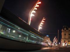 Nuit a la gare (macpeloup) Tags: night nuit noche railwaystation gare estacion streetcar tramway tranvia