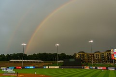 Coolray Field Rainbow (The Suss-Man (Mike)) Tags: sports georgia rainbow baseball braves lawrenceville minorleaguebaseball sportsphotography thesussman gwinnettbraves coolrayfield sonyslta77 sussmanimaging scrantonwilkesbarrerailriders