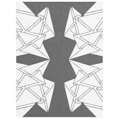"""Tai-Burst"" - Black & White Custom Fleece Blanket Large (CMY-KEY) Tags: home graphicdesign bedroom homedecor bedding patterndesign chicagopattern cameronprather chicagodecor"