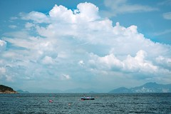 Cloud and Raft (Definitely not Frankie) Tags: hk cheungchau sunny summer