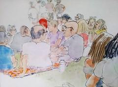 Lambeth Country Fair 16-07-16 (Utopist) Tags: watercolour watercolor portrait lambeth country fair brockwell park