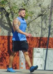 IMG_5687 (danimaniacs) Tags: man hot sexy guy tattoo beard hunk westhollywood scruff mansolo