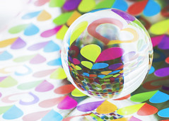 dig you baby (rockinmonique) Tags: marvellousmarbles marble orb reflections 52in52 highkey colours vibrant moniquew canon tamron copyright2016