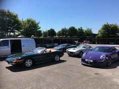 sunny supercar lineup Goodwood (richebets) Tags: goodwood goodwoodmotorcircuit ferrari mclaren porsche
