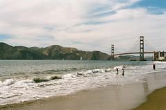 (Krista June) Tags: sanfrancisco bridge film beach analog 35mm landscape bay goldengatebridge goldengate bayarea pentaxk1000 westcoast bakerbeach northbay