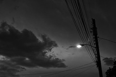 Twilight (Thomas Pohlig) Tags: light series twlight sky clouds lamp landscape capemay blackandwhite monochrome fineart night lines
