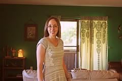 (K. Sawyer Photography) Tags: portrait selfportrait woman house home decor dress interiordesign lamp art curtain albuquerquenewmexico