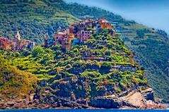Little town atop a hill, Corniglia (BlindThirdEye) Tags: italy coastalitaly cinqueterre riomaggiore corniglia landscape cityscape wideangle villages travelphotography