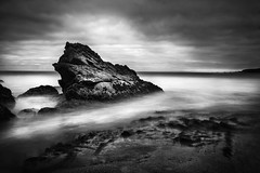 pigeon point beach  rock (hbphototeach) Tags: approved pigeonpoint beach sanmateocoast clouds longexposure seascape landscape bayarea pacificocean blackandwhite contrast