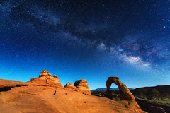 Night at Delicate Arch (brianbaril_photography) Tags: night delicate arch utah usa national park nps service arches landscape brianbaril beautiful d800 desert evening nikon nikkor nature photography photo rock sky southwest travel trip milky way stars