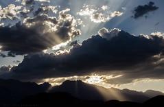 Coming Through (Dan_jOnEs18) Tags: clouds california sierranevada sky nikon nikonphotography nikond7000 d7000 roadtrip 395 sunset rays mountains camping