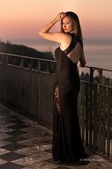 Sunrise in Taormina - with my love, my wife.. (Mario&Dalila) Tags: portrait offcamera strobist canon alba sunrise taormina model wife
