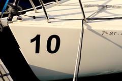 J80 (alfonsocarlospalencia) Tags: j80 proa 10 santander cantabria blanco negro azul minimalismo cabos mosquetn folio luz puertochico enrrollador foque regata polea
