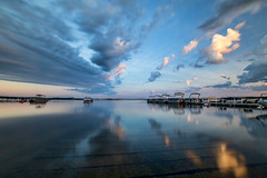 Boat Launch Sunset. -  Explore (Kevin Povenz Thanks for the 2,600,000 views) Tags: 2016 july kevinpovenz westmichigan michigan silverlake sunset sky blue clouds longexposure water reflection boats dusk evening sigma1020 canon7dmarkii 10stopfilter oceana oceanacounty