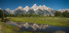 SchwabacherLanding (ben.gentile) Tags: schwabachers landing stream river mountains grand tetons jackson wyoming hole wy reflection teton national park panorama blue sky