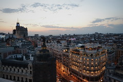 Madrid (claudiagomlop) Tags: madrid city sunset bellas artes beautiful lights arquitectura noche anochecer