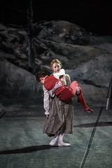 Meaghan Grace Hinkis as Justine Moritz and Guillem Cabrera Espinach as William Frankenstein in Frankenstein, The Royal Ballet  2016 ROH. Photograph by Bill Cooper (Royal Opera House Covent Garden) Tags: frankenstein theroyalballet actionshot production productionphoto meaghangracehinkis guillemcabreraespinach