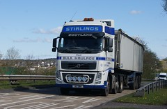 Ian Stirling Bulk Haulage No3 X3SBH Volvo FH 6 X 2 M77 Bellfield Interchange Kilmarnock (Malcie Man) Tags: ian volvo stirling fh kilmarnock interchange bulk m77 haulage bellfield