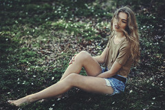 forest fire (Anton Stenander) Tags: flowers portrait green colors beautiful face fashion forest model focus outdoor