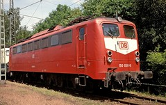 150 058  Bebra  20.06.98 (w. + h. brutzer) Tags: analog train germany deutschland nikon eisenbahn railway zug trains db 150 locomotive lokomotive bebra elok eisenbahnen e50 eloks webru