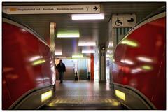 Beginning To See The Light (/Reality Scanner/) Tags: city urban canon germany subway deutschland eos hamburg escalator stadt ubahn reality exit m3 documentation rolltreppe ausgang schlump dokume