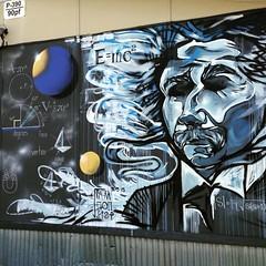 Einstein / math \ trailer at school. 2015 (i.am.nonstop) Tags: school austin painting studio outside mural texas classroom sweet einstein creative large spray math spraypaint create aerosol nonstop brushwork spratx