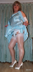 10 Yes always matching (janegeetgirl2) Tags: blue white stockings contrast vintage tv high glamour opera dress jane crossdressing tgirl gloves transvestite heels suspenders gee satin crossdresser ts petticoat stilettos fully nylons garters fashioned seams