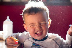 Gio, please, make a smile... (Diego Pianarosa (aka Pinku)) Tags: morning light portrait italy colors breakfast canon 50mm child pentax bokeh f14 son m42 soe pinku 70d diegopianarosa