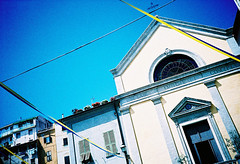 Ribbons (Stephen Dowling) Tags: travel summer italy film 35mm xpro crossprocessed sanremo cosinacx2 agfact100precisa