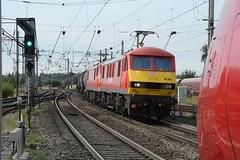 "DB Cargo Rail Class 90/0's, 90040 & 90029 (37190 ""Dalzell"") Tags: dbschenker dbc dbcargorail red brelcrewe acelectric sparkies skoda class900 class90 90029 90129 90040 90140 bankquay warrington"