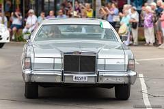 Lincoln Continental - Jacaranda Parade 2015 (sbyrnedotcom) Tags: 2015 people events grafton jacaranda parade rural town lincolncontinental sedan nsw australia