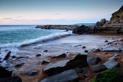 A Line in the Water (Paul Hollins) Tags: ocean seascape newcastle rocks australia newsouthwales aus nudistbeach watermovement cookshill nikond750