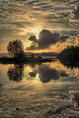 Lindy, Norway (Vest der ute) Tags: tree norway clouds sunrise reflections landscape gold mirror rogaland waterscape fav25 fav200 g7x ryksund