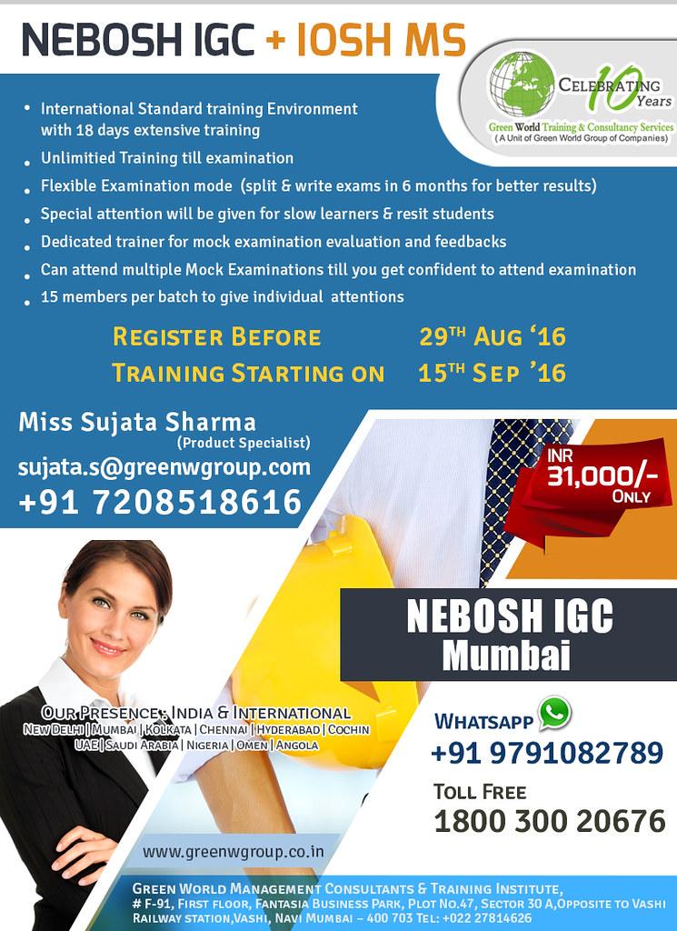 Nebosh Igc With Iosh Ms Certification In Mumbai Green World Group Seo