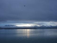 IMG_7525 (NapoleonIsNotDead) Tags: sunset summer sun white lake ice water sunshine clouds landscape evening iceland cloudy south lagoon iceberg jkulsrln glacial