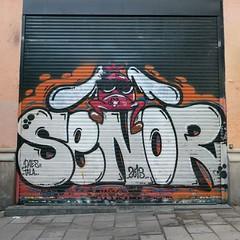 Senor (neppanen) Tags: madrid graffiti spain senor espanja discounterintelligence sampen