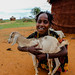 Borana Girl with a young goat