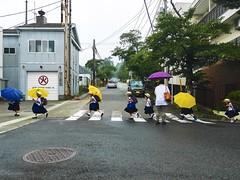 Crossing in line (kura51) Tags: summer japan kids uniform july   kanagawa hakone gora      2016  gx7  1235f28