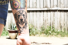 Cracker tattoo by J-Whitten (be-t) Tags: dog tattoo texas tyler geometrical greatpyrenees triangular