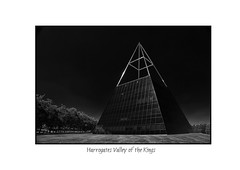 Harrogates Valley of the Kings (John Wells Photography) Tags: light white black architecture pyramid minimal harrogate