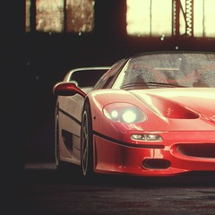 Glorious Rosso (polyneutron) Tags: car photography ferrari f50 red classic supercar racer needforspeed nfs rivals pc videogame photomode closeup depthoffield