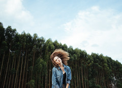 You came running down with your hair looking wild, something I haven't seen in a while. (gmacedo_) Tags: girl blue blond landscape female woods green so paulo sopaulo sp brazil brasil br