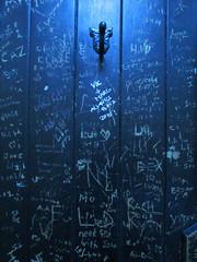Latrinalia (pefkosmad) Tags: latrinalia graffiti vandalism door toilet ladies lavatory lambflag pub publichouse oxford oxfordshire oxon guinness wine building history old universityofoxford university stjohnscollege