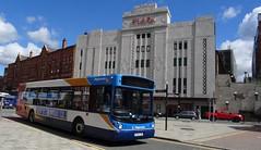 Stockport (Andrew Stopford) Tags: sv55cby man 18220 transbus alx300 stagecoach stockport bluebird plaza