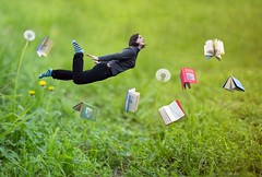 52/365 (Jessie Rose Photography) Tags: harrypotter books levitation floating miniature littlepeople flying magic