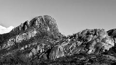 Tucson Mountain Park I (Kyle French) Tags: saguaro national park tucson gates pass gatespass arizona black white rocks mountain landscape
