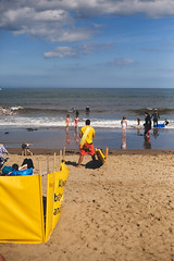 Searching for Pamela (I AM JAMIE KING) Tags: rnli scarborough anthrapology baywatch beach besidetheseaside britain candid coast humans life lifeguard people safety sea seaside social water yellow guard